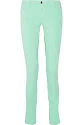 Alice Olivia Mid Rise Stretch Cotton Blend Jeans