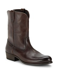 Tom Ford Italian Leather Mid Calf Boots Brown