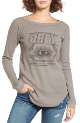 Obey Women's Eva Graphic Thermal Tee