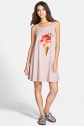 Wildfox Couture 'Floral Cone' A Line Tank Dress Pink