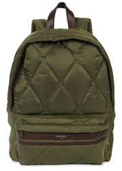Casely Hayford Olive Quilted Nylon Backpack Khaki