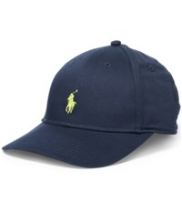 Polo Ralph Lauren Men's Big And Tall Baseline Hat Aviator Navy