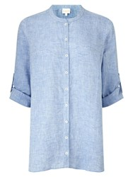 East X Dye Oversized Linen Shirt Sky