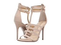 Chinese Laundry Lacy Sand Micro Suede High Heels Bone