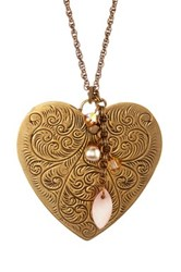 Liz Palacios Big Heart Pendant Necklace No Color
