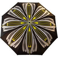 Raindance Umbrellas Flores Yellow And Silver