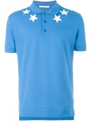 Givenchy Star Patch Polo Shirt Blue