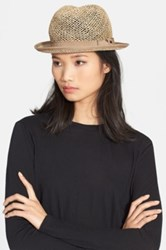 The Kooples Straw And Cotton Hat Beige