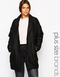 Junarose Boyfriend Coat Black