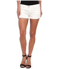 Blank Nyc The Basic Cuff Short In White Lines White Lines Women's Shorts