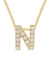 Bony Levy Women's Pave Diamond Initial Pendant Necklace Nordstrom Exclusive Yellow Gold N