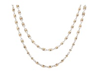 Lucky Brand Indigo Trail Double Layer Two Tone Strand Necklace Two Tone Necklace Metallic
