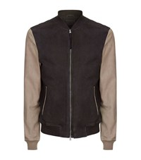 Allsaints All Saints Avon Leather Bomber Jacket Male Black