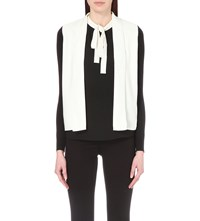 Ted Baker Monochrome Crepe Top Black White