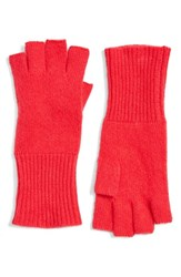 Halogenr Women's Halogen Cashmere Fingerless Gloves Pink Bright