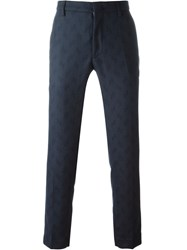 Pence Slim Tailored Trousers Blue