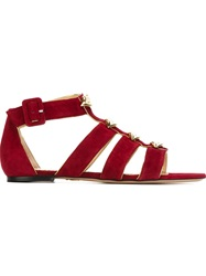 Charlotte Olympia 'One More Kiss' Sandals Red