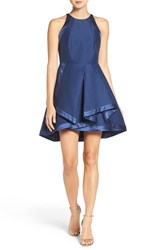 Halston Women's Heritage Cotton And Silk Faille Fit And Flare Dress