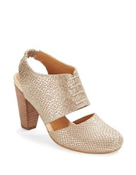 Seychelles Whirl Leather Slingback Pumps Gold