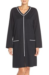 Women's Eileen West 'Matlasse' Short Zip Robe