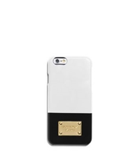 Michael Kors Color Block Phone Case For Iphone 6 Optic White Blk