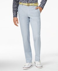 Bar Iii Light Blue Chambray Slim Fit Pants Only At Macy's
