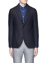Altea Stripe Wool Jacquard Soft Blazer Blue