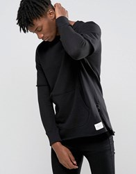 Criminal Damage Sweatshirt With Layered Sleeves Black