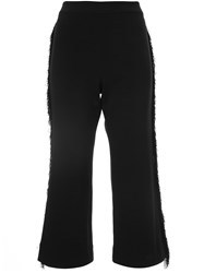 Jonathan Simkhai Flared Cropped Trousers Black