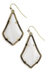 Kendra Scott Women's 'Alex' Drop Earrings White Agate Antique Brass
