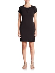 Csbla Viareggio Mesh Panel Dress Black