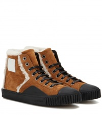 Balenciaga Young Suede High Top Sneakers Brown