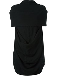 Rick Owens Drkshdw Draped Knitted Top Black
