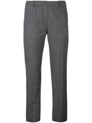Neil Barrett Satin Stripe Trousers Grey
