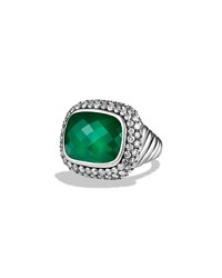 Waverly Limited Edition Ring With Green Onyx And Gray Diamonds David Yurman Silver