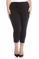 Plus Size Women's Karen Kane Jacquard Crop Pants