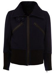 Ann Demeulemeester Zipped Jacket Blue