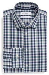 Calibrate Men's Big And Tall Trim Fit Non Iron Check Stretch Dress Shirt Blue Ensign