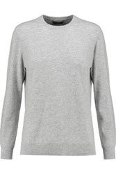 N.Peal Cashmere Boyfriend Cashmere Sweater Light Gray
