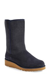 Women's Ugg 'Amie Classic Slim' Water Resistant Short Boot Navy Suede