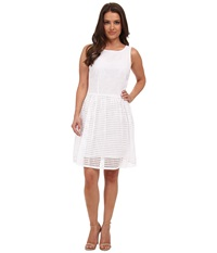 Michael Michael Kors Petite Eyelet Boat Neck Dress White Women's Dress