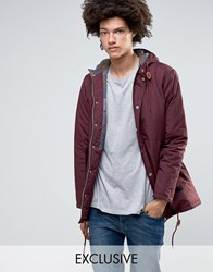 Minimum Shelton Hooded Parka In Burgundy Burgundy Red