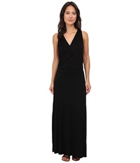 Three Dots Crossover Maxi Dress Black Women's Dress