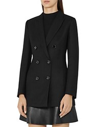 Reiss Miki Double Breasted Blazer Black
