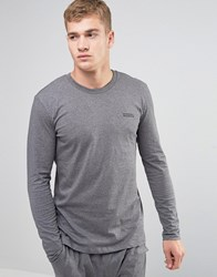 Diesel Long Sleeve Top In Regular Fit Grey