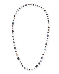 Sheryl Lowe Wire Wrap Necklace With Diamonds Blue Black Mix