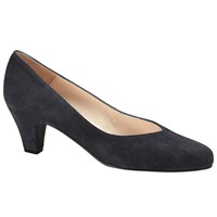 John Lewis Ash Block Heeled Court Shoes Navy