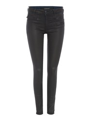 Maison Scotch Coated Skinny Jeans Black