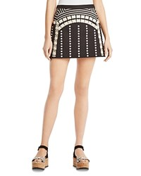 Bcbgmaxazria Lannia Embellished Mini Skirt Black Combo
