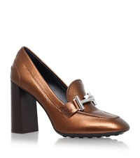 Tod's Gomma T Bar Pumps Female Bronze